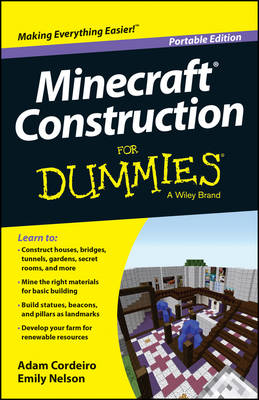 Minecraft Construction for Dummies, Portable Edition (Paperback)