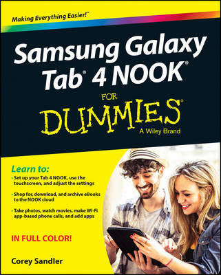 Samsung Galaxy Tab 4 Nook for Dummies (Paperback)