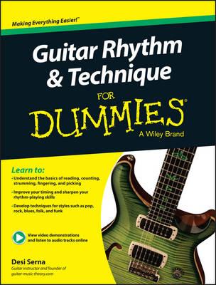 Guitar Rhythm & Technique for Dummies: Book + Online Video & Audio Instruction (Paperback)