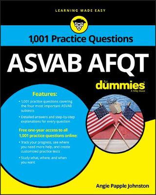 1,001 ASVAB AFQT Practice Questions For Dummies (Paperback)