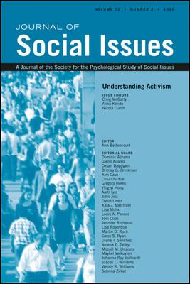 Understanding Activism - Journal of Social Issues (JOSI) (Paperback)