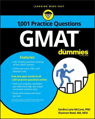 1,001 GMAT Practice Questions For Dummies (Paperback)