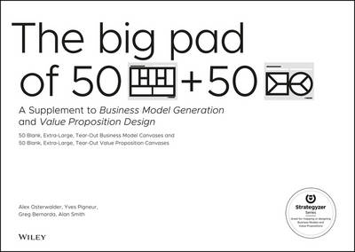 The Big Pad of 50 Blank, Extra-Large Business Model Canvases and 50 Blank, Extra-Large Value Proposition Canvases: A Supplement to Business Model Generation and Value Proposition Design (Paperback)