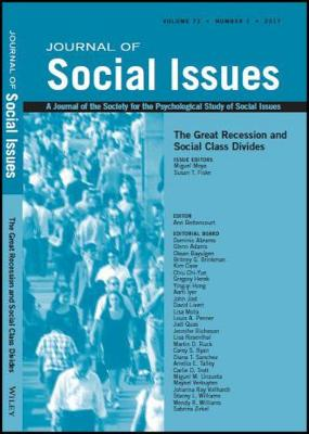 The Great Recession and Social Class Divides - Journal of Social Issues (JOSI) (Paperback)