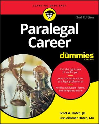 Paralegal Career For Dummies (Paperback)