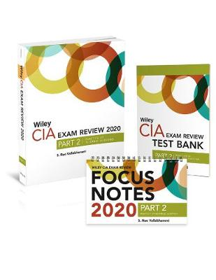 Wiley CIA Exam Review 2020 + Test Bank + Focus Notes: Part 2, Practice of Internal Auditing Set (Paperback)