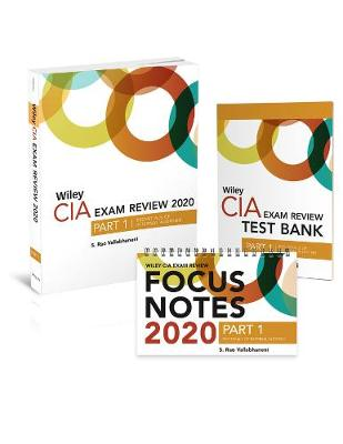Wiley CIA Exam Review 2020 + Test Bank + Focus Notes: Part 1, Essentials of Internal Auditing Set (Paperback)