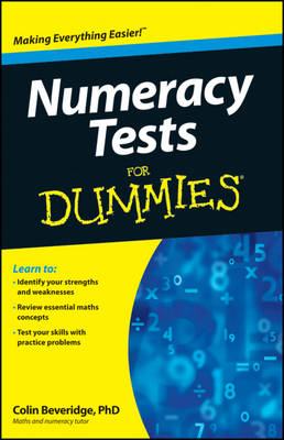 Cover Numeracy Tests For Dummies