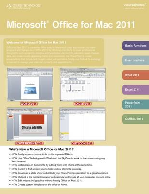 Microsoft Office 2011 for Mac CourseNotes (CD-ROM)