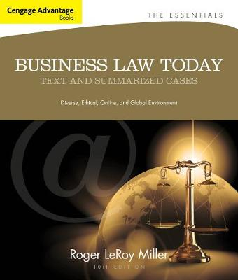 Cengage Advantage Books: Business Law Today, The Essentials: Text and Summarized Cases (Paperback)