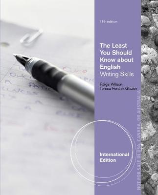 The Least You Should Know About English: Writing Skills, Form B, International Edition (Paperback)