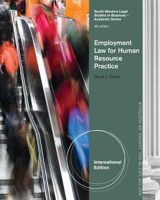 Employment Law for Human Resource Practice, International Edition (Paperback)