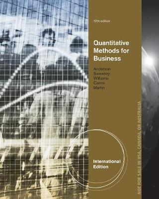 Quantitative Methods for Business, International Edition (with Printed Access Card)