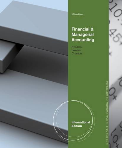 Financial and Managerial Accounting, International Edition (Paperback)