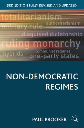Non-Democratic Regimes - Comparative Government and Politics (Hardback)