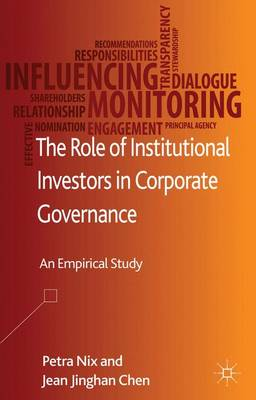 The Role of Institutional Investors in Corporate Governance: An Empirical Study (Hardback)