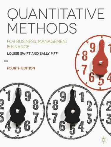 Quantitative Methods: for Business, Management and Finance (Paperback)