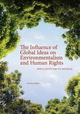 The Influence of Global Ideas on Environmentalism and Human Rights: World Society and the Individual (Hardback)