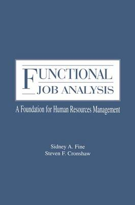 Functional Job Analysis: A Foundation for Human Resources Management - Applied Psychology Series (Paperback)