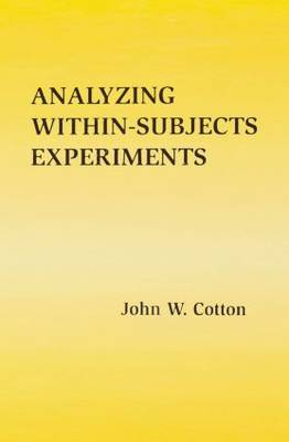 Cover Analyzing Within-subjects Experiments