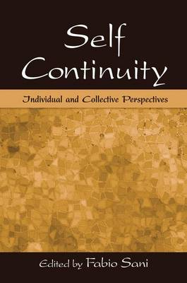 Cover Self Continuity: Individual and Collective Perspectives