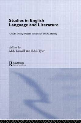 Studies in English Language and Literature: Doubt Wisely (Paperback)