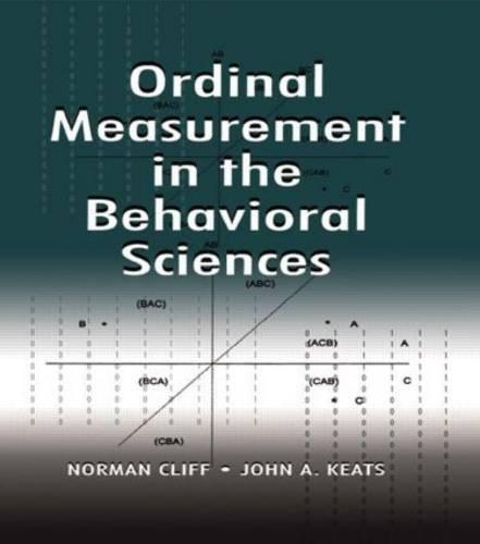 Ordinal Measurement in the Behavioral Sciences (Paperback)