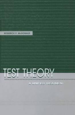 Test Theory: A Unified Treatment (Paperback)