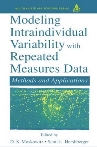 Modeling Intraindividual Variability With Repeated Measures Data: Methods and Applications - Multivariate Applications Series (Paperback)