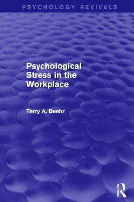 Psychological Stress in the Workplace (Paperback)
