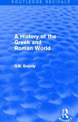 A History of the Greek and Roman World - Routledge Revivals (Paperback)