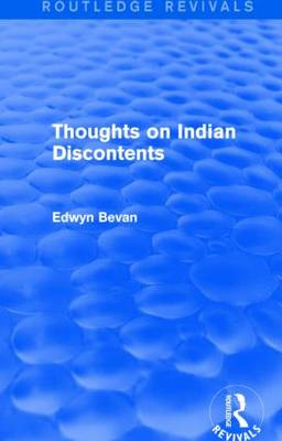 Thoughts on Indian Discontents (Hardback)