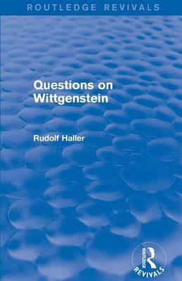 Questions on Wittgenstein - Routledge Revivals (Paperback)