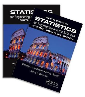 Statistics for Engineering and the Sciences, Sixth Edition, Textbook and Student Solutions Manual (Hardback)