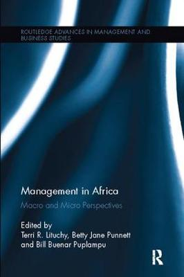 Management in Africa: Macro and Micro Perspectives - Routledge Advances in Management and Business Studies (Paperback)