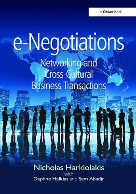e-Negotiations: Networking and Cross-Cultural Business Transactions (Paperback)