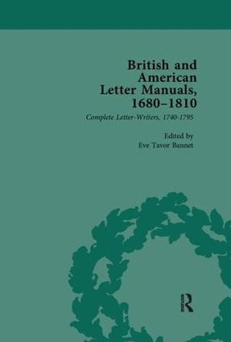 British and American Letter Manuals, 1680-1810, Volume 3 (Paperback)