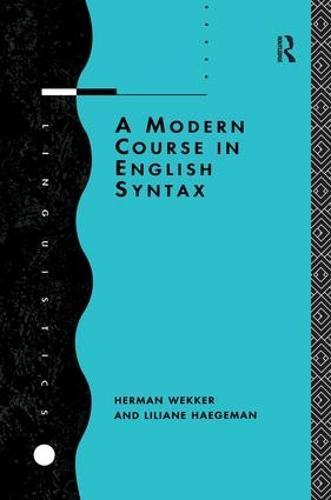 A Modern Course in English Syntax (Hardback)