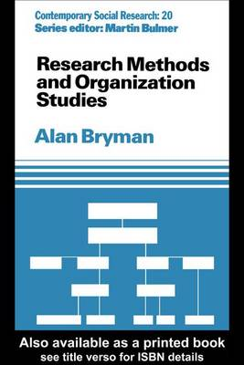 Research Methods and Organization Studies (Hardback)