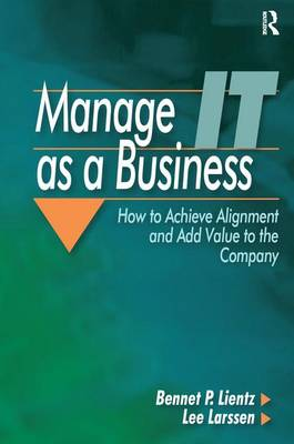 Manage IT as a Business (Hardback)