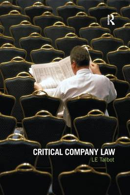 Critical Company Law (Hardback)