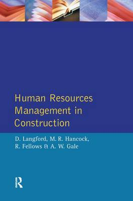Human Resources Management in Construction (Hardback)