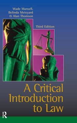 Critical Introduction to Law (Hardback)