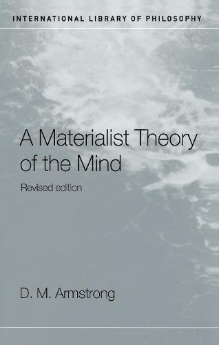 A Materialist Theory of the Mind - International Library of Philosophy (Hardback)