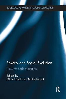 Poverty and Social Exclusion: New Methods of Analysis (Paperback)