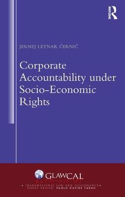 Corporate Accountability under Socio-Economic Rights - Transnational Law and Governance (Hardback)