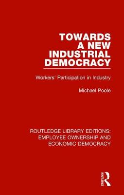 Towards a New Industrial Democracy: Workers' Participation in Industry - Routledge Library Editions: Employee Ownership and Economic Democracy 8 (Hardback)