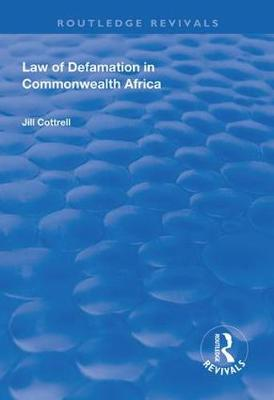 Law of Defamation in Commonwealth Africa - Routledge Revivals (Hardback)