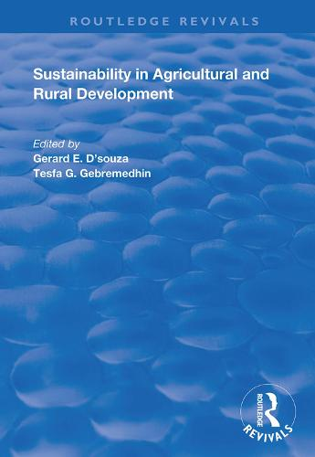 Sustainability in Agricultural and Rural Development - Routledge Revivals (Hardback)