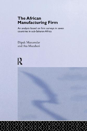 The African Manufacturing Firm: An Analysis Based on Firm Studies in Sub-Saharan Africa - Routledge Studies in Development Economics (Paperback)